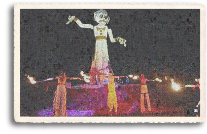 Zozobra (the burning of Old Man Gloom) is a part of the annual Fiesta de Santa Fe (Santa Fe Fiesta). Held on the opening Friday night of Fiesta, it has been an ever-popular event attracting both locals and tourists since its debut in 1926.